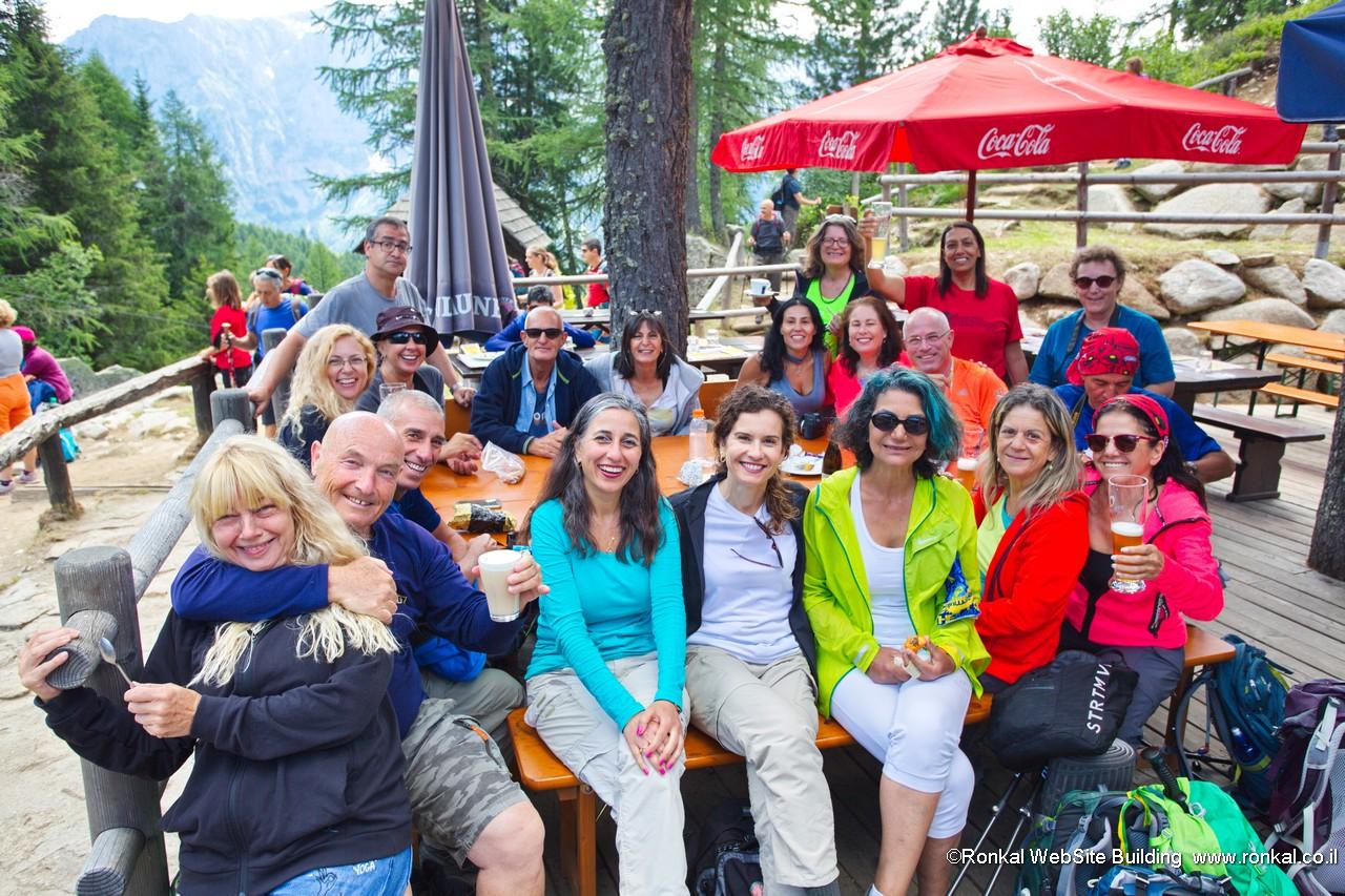טיול דולומיטים איטליה אגם rafugio maghette