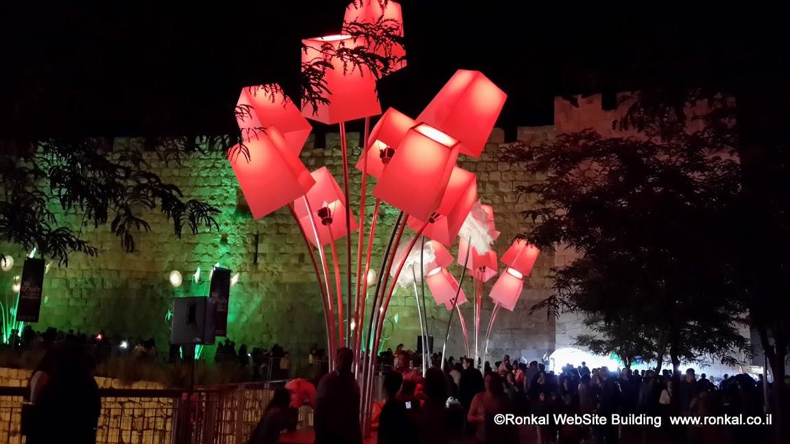 פסטיבל האור בעיר העתיקה בירושלים