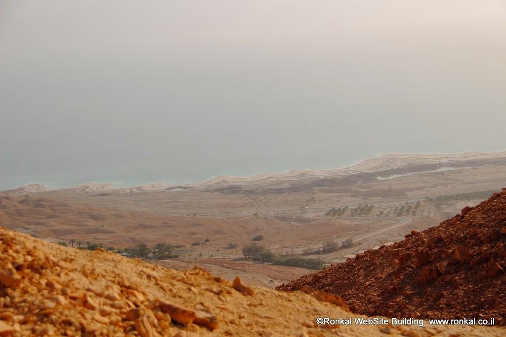 ים המלח, ועין גדי מבט מהטיפוס על הר צרויה