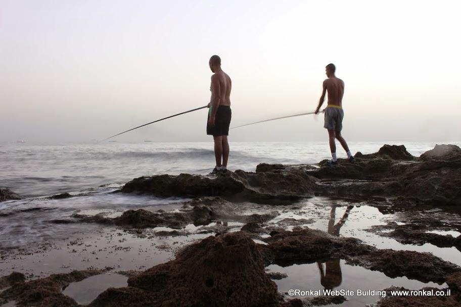 צילום, שקיעה, חשיפה ארוכה, חוף, פלמחים