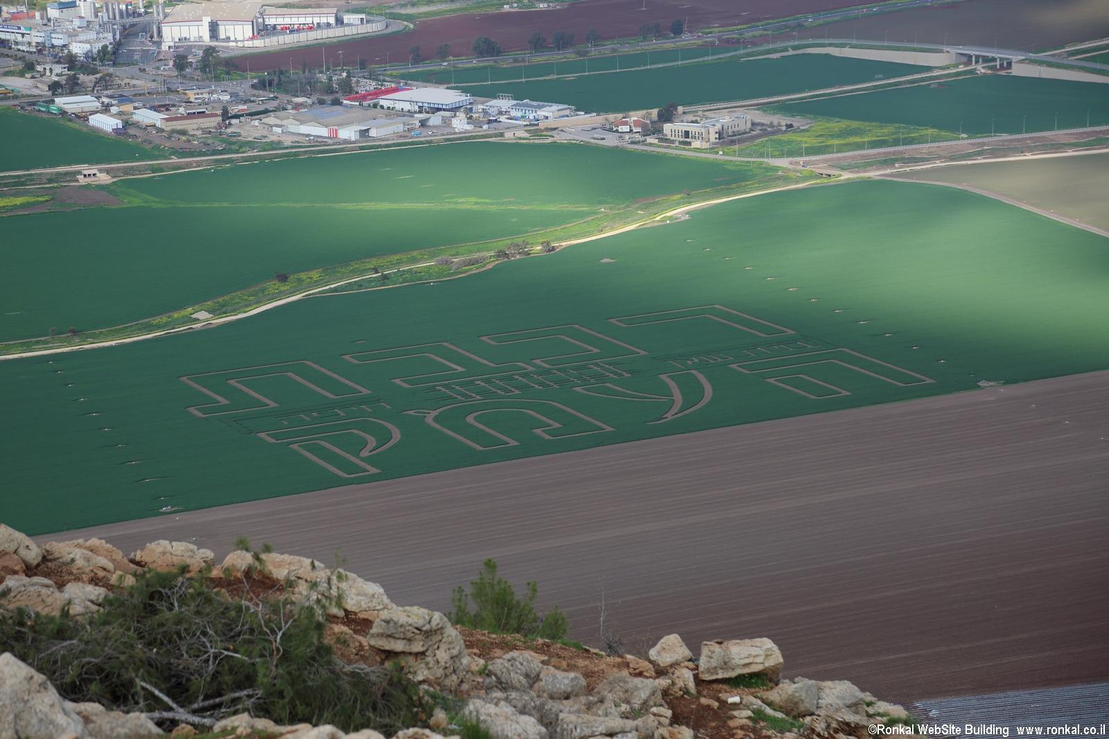 גרפיטי בשדות על בואה של רכבת העמק  מבית שאן לחיפה