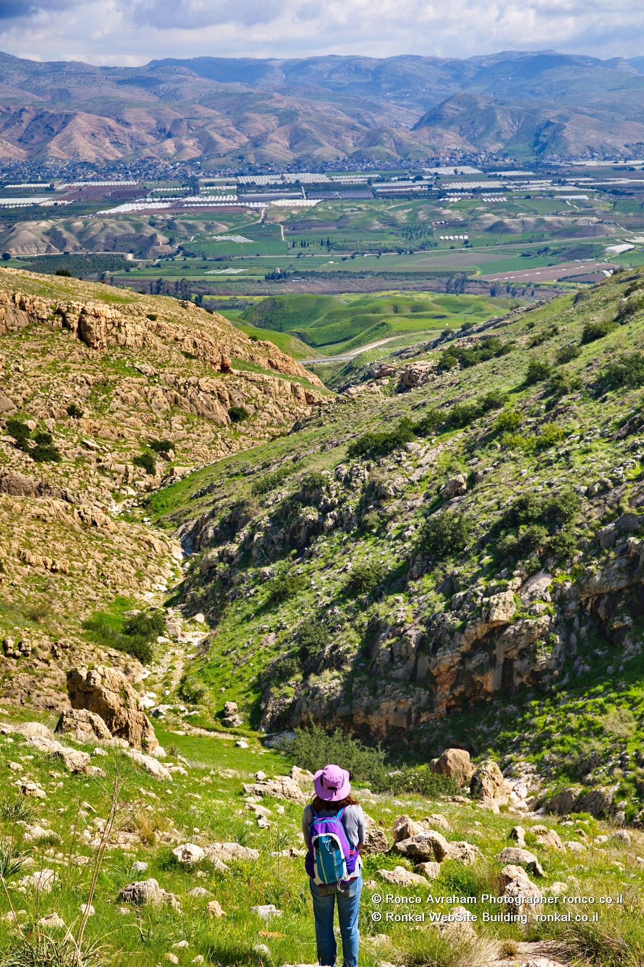 הנוף מנחל פיראן מזרחה לירדן