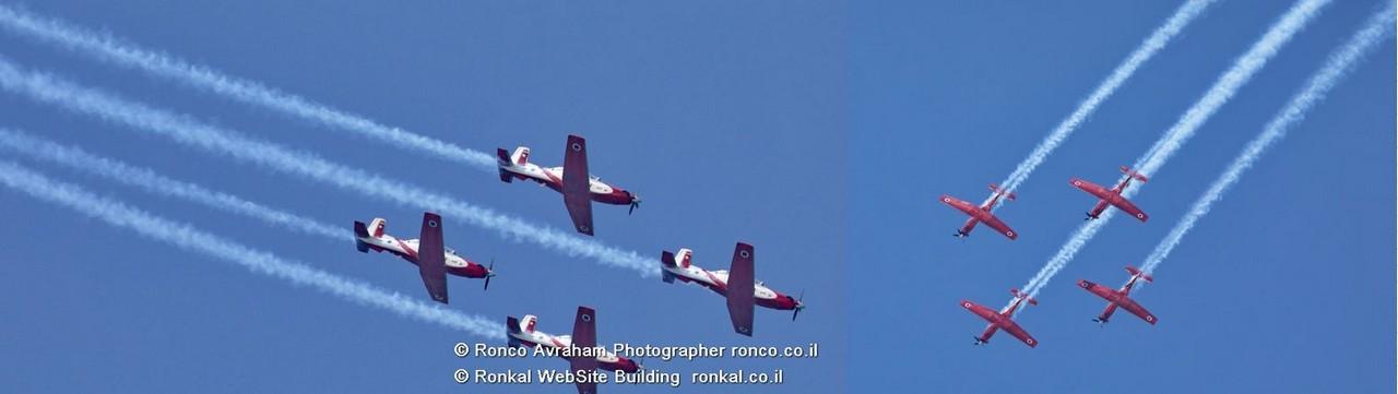 מטס חיל האוויר לרגל 73 שנות עצמאות