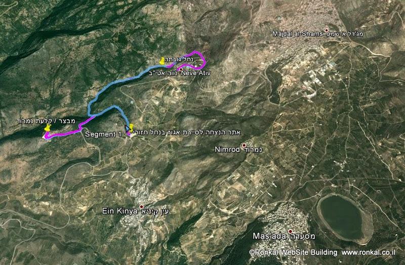 טיול לנחל  גובתה - נחל חזורי –מבצר נמרוד והג'ובה הגדולה